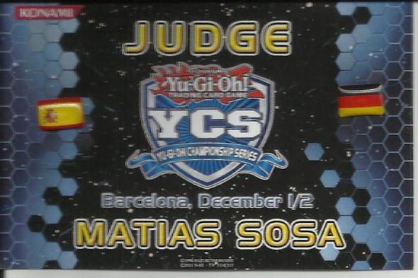 Tarjeta Judge YCS BArcelona